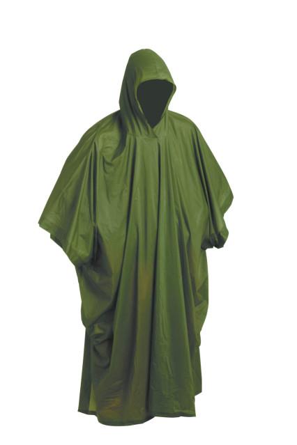PONCHO PVC zöld