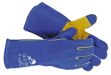 PUGNAX BLUE hasított marhabőr hegesztő kesztyű