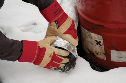 ROSE FINCH színsertésbőr tenyerű bélelt kesztyű piros-sárga