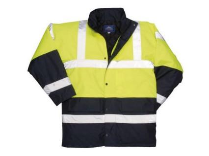 S466 Traffic fluo kabát sárga/kék