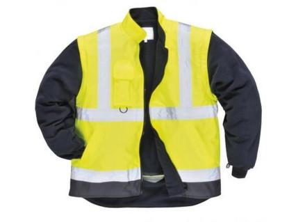 S768 Lélegző 5az1-ben fluo kabát sárga / tengerészkék