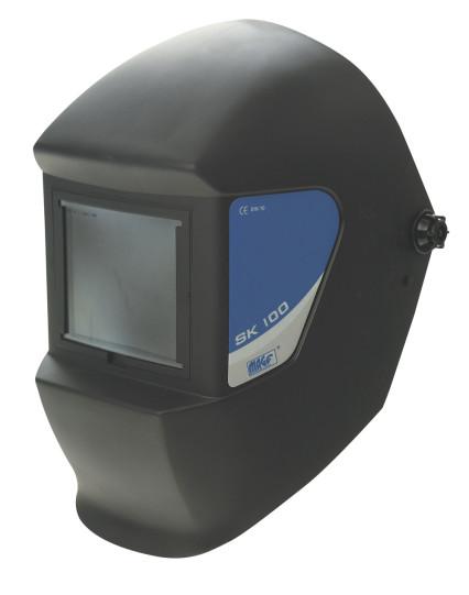 SK 100 műanyag hegesztő fejpajzs 110*90 mm látómező