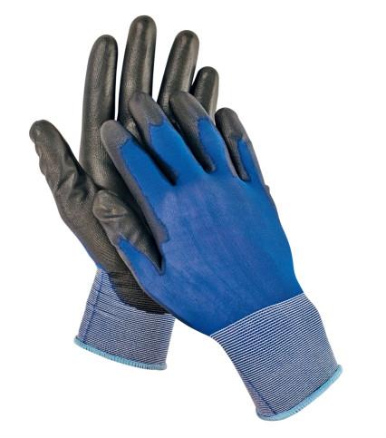 SMEW tenyéren mártott PU kesztyű kék-fekete