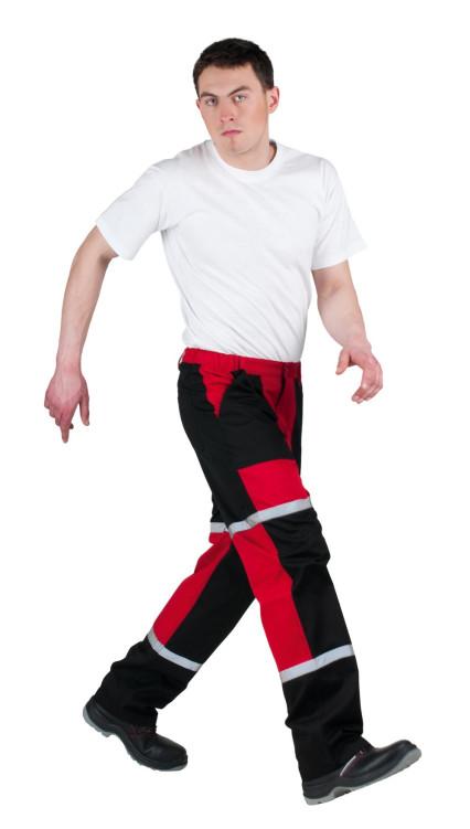 TAYRA nadrág piros-fekete