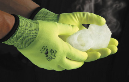 TURTUR tenyéren PVC mártott bélelt kesztyű