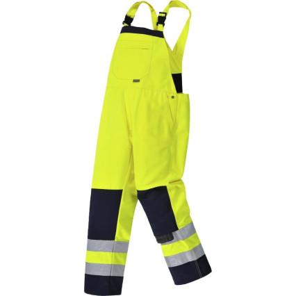 TX72 Girona Hi-Vis mellesnadrág sárga/kék
